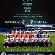 Cartel Semifinal PlayOFF Ascenso a 2B Ourense CF Vs. Arosa SC
