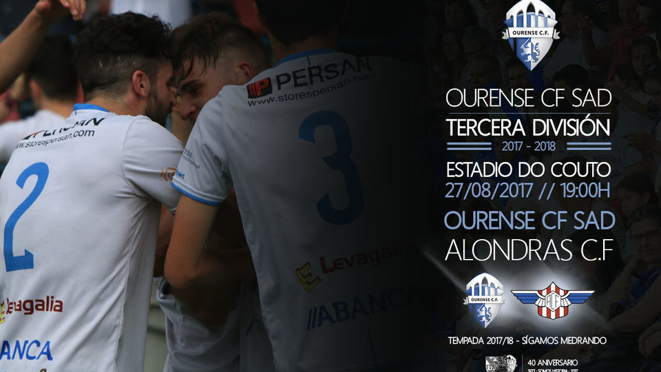 Ourense CF Vs. Alondras CF domingo 27 de agosto 19:00 horas