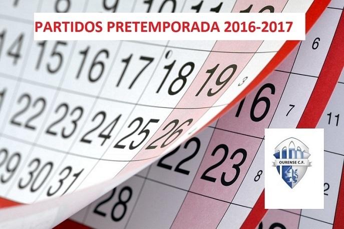 Calendario partidos pretemporada Ourense C.F