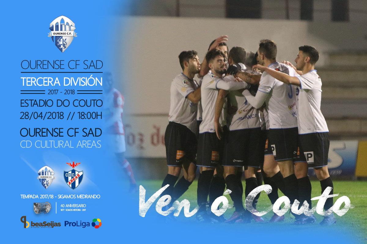 Ourense CF Vs. Cultural Areas partido de Tercera Galicia sábado 28 de mayo en O Couto