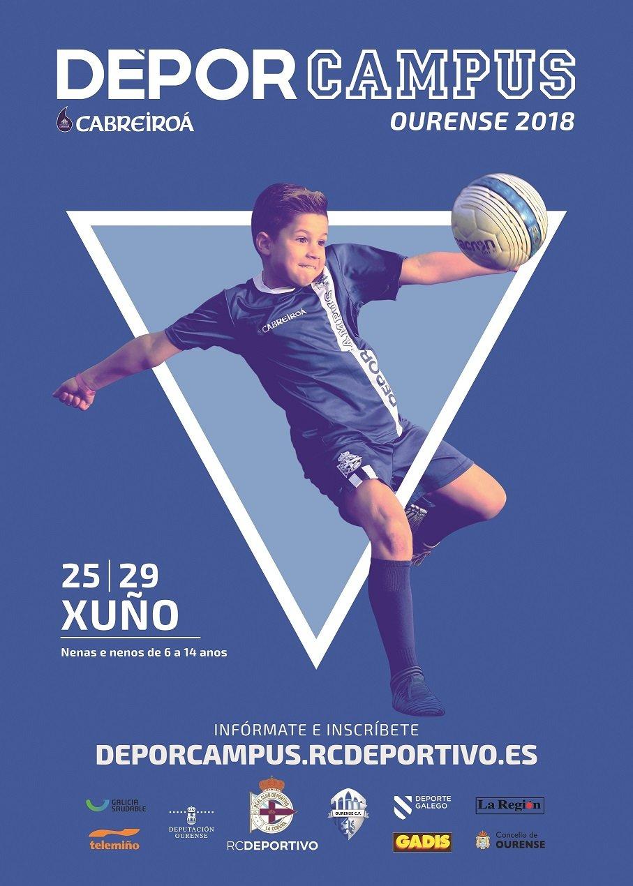Dépor Campus en Ourense con entrenadores del RC Deportivo del 25 al 29 de junio