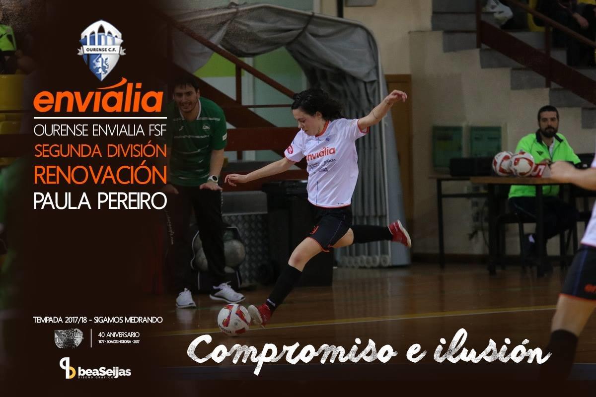 Paula Pereiro renueva con el Ourense Envialia FSF