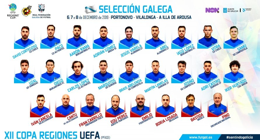 convocatoria final seleccion galega copa das rexions uefa